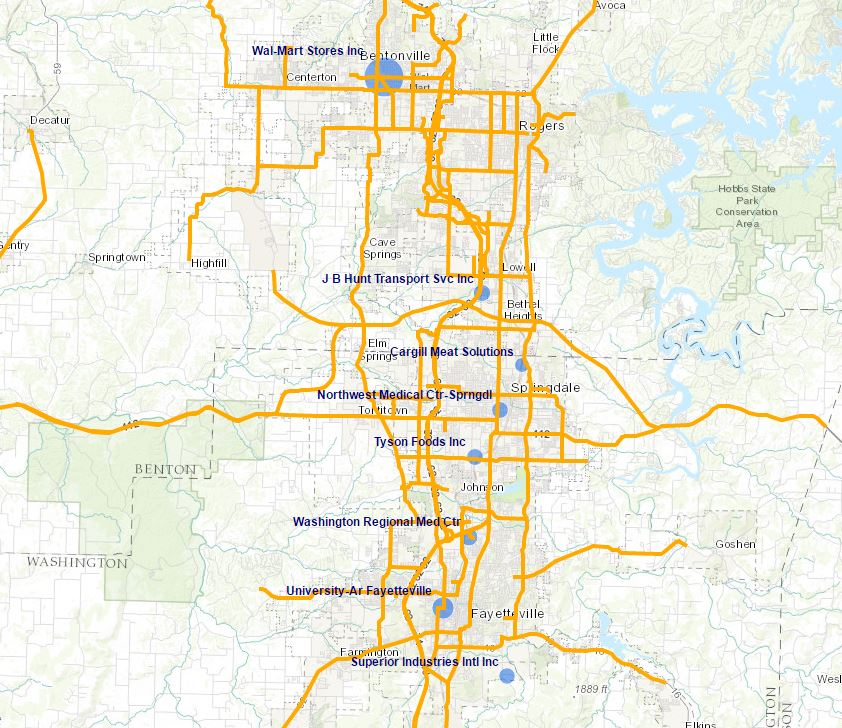 Interactive GIS Maps Northwest Arkansas Regional Planning Commission - Arkansas highway map